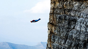 Vollebak athlete Tim Howell wingsuit flying